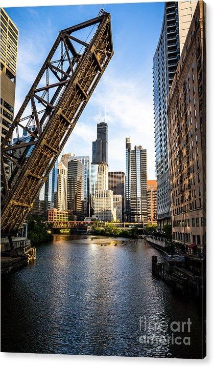 Paul Velgos - Chicago Downtown and Kinzie Street Railroad Bridge