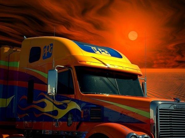 Tim McCullough - 2008 Freightliner Coronado PPG Semi Truck