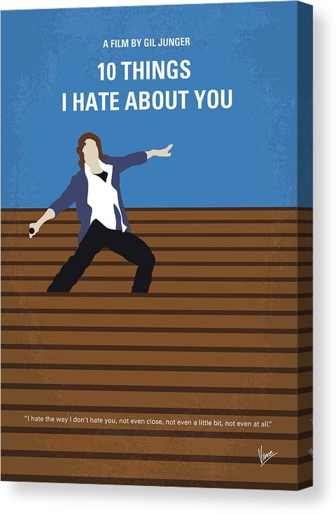 Chungkong Art - No850 My 10 Things I Hate About You minimal movie poster