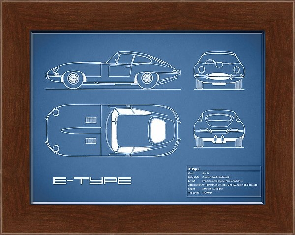 Mark Rogan - Jaguar E Type Blueprint