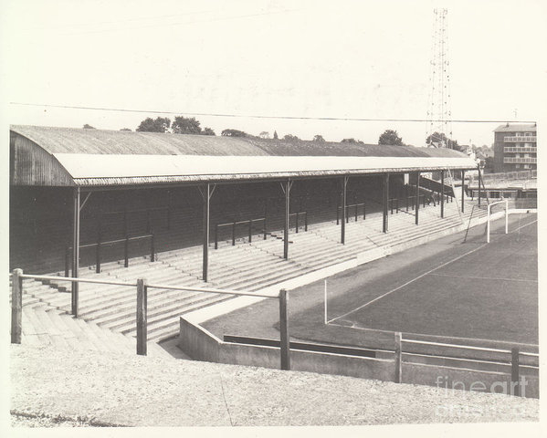 Legendary Football Grounds - Southend United - Roots Hall - North Stand 1 - BW - 1960s