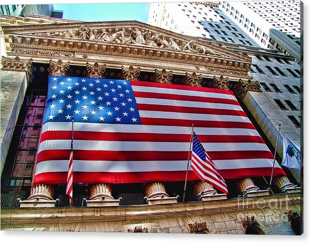 David Smith - New York Stock Exchange with US Flag