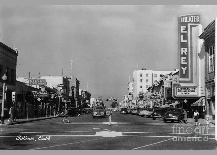 El Rey Theater Main Street Salinas Circa 1950 by California Views Archives Mr Pat Hathaway Archives