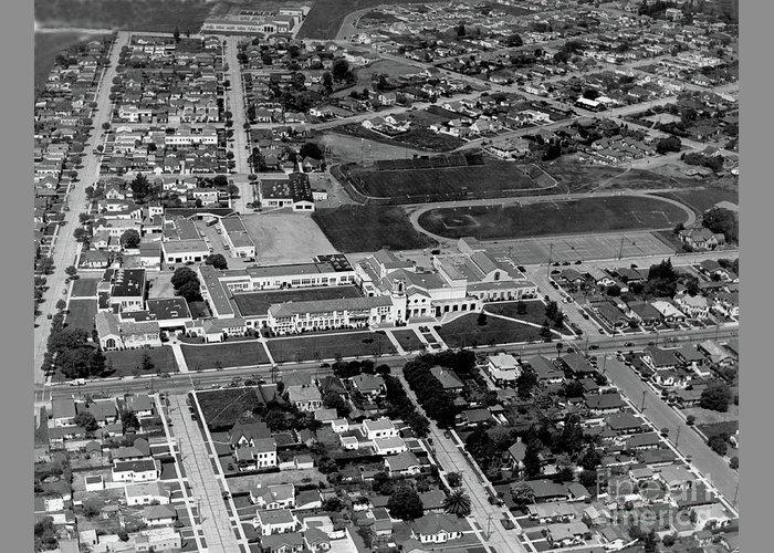 Salinas High School 726 S. Main Street, Salinas Circa 1950 by California Views Archives Mr Pat Hathaway Archives