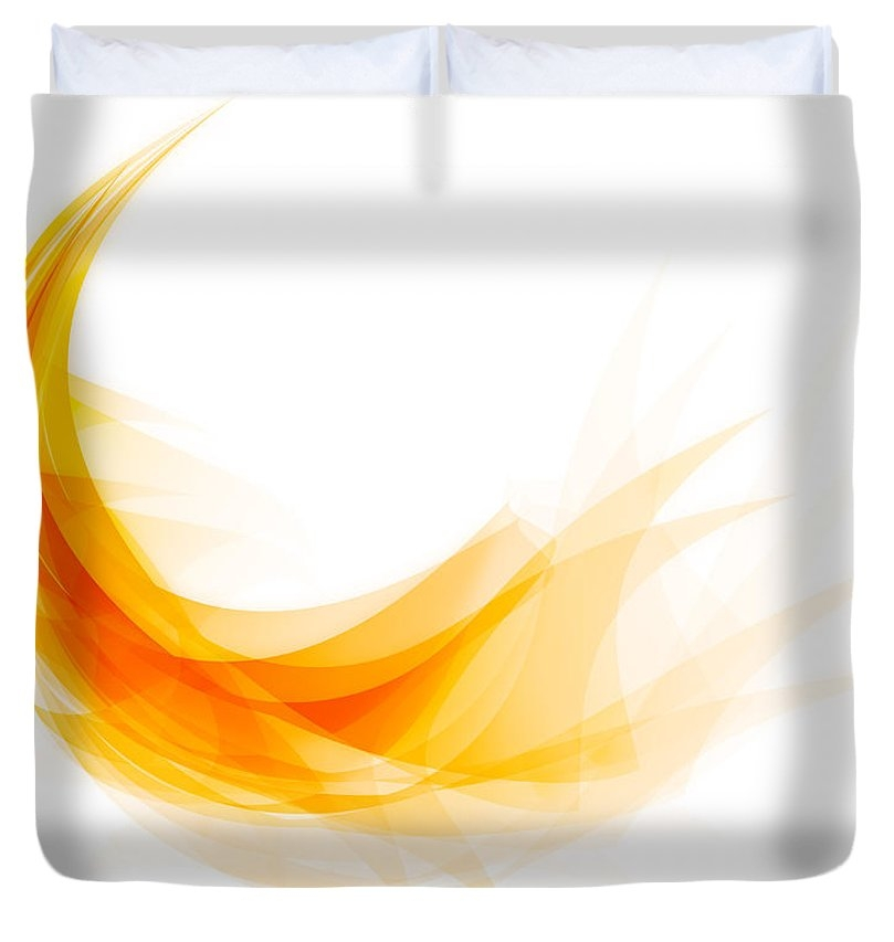 Abstract feather Duvet Cover
