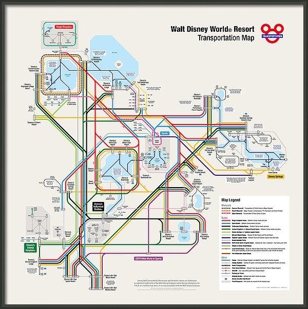 Sold - Walt Disney World Resort Transportation Map