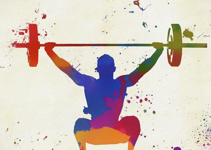 Weightlifter Paint Splatter by Dan Sproul
