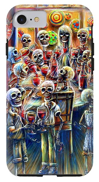 Skeleton Wine Party Galaxy Case