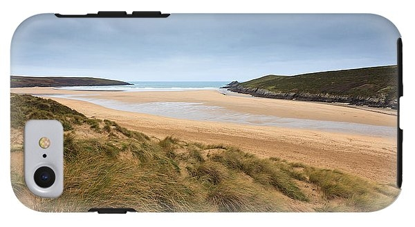 Crantock Beach in Cornwall England Galaxy Case