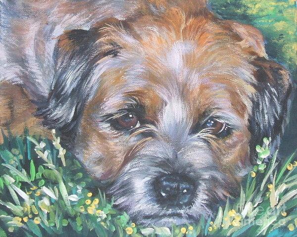 border terrier in grass by Lee Ann Shepard