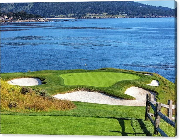 Hole 7 Pebble Beach 2 by Mike Centioli