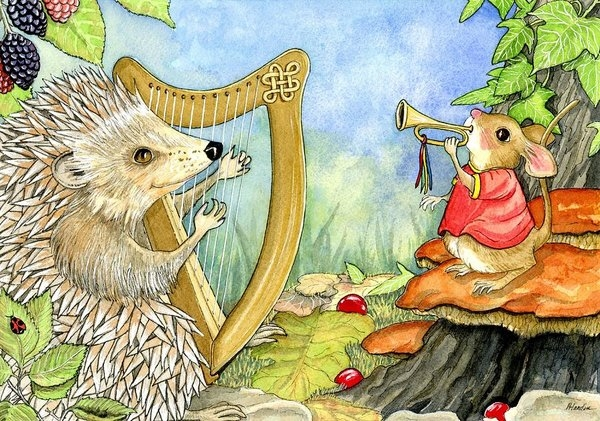 Harcourt hedgehog and his harp by Pamela Harden
