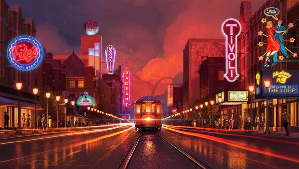 Delmar Loop Trolley by Nathan Schroeder