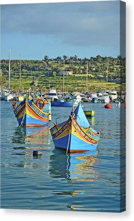 Luzzu. Fishing Boats.  Marsaxlokk. by Andy Za