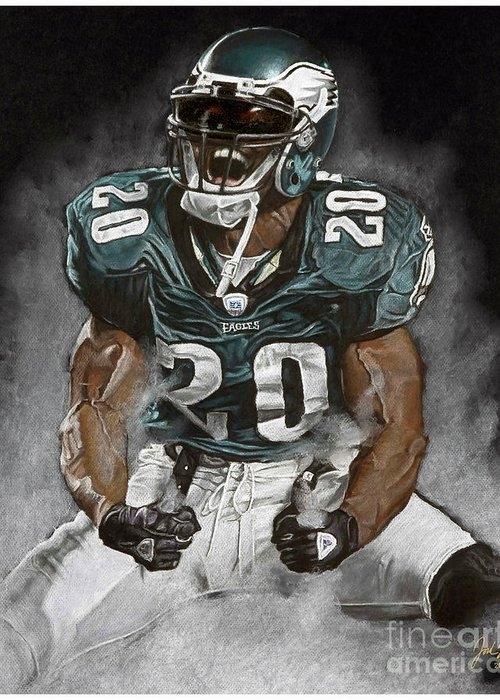 Philadelphia Eagles Brian Dawkins The Legend by Jordan Spector