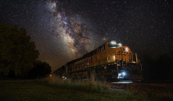 Cosmic Railroad by Aaron J Groen