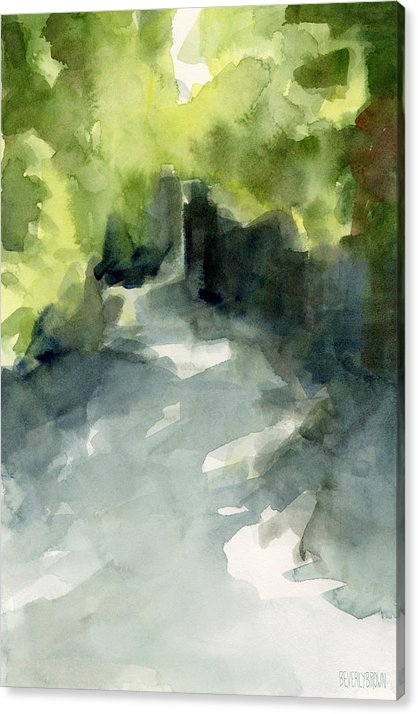 Sunlight and Foliage Conservatory Garden Central Park Watercolor Painting by Beverly Brown