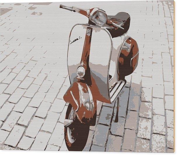 Vespa Scooter Pop Art by Michael Tompsett