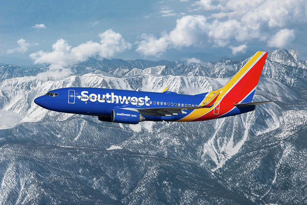 Colorful Southwest Airlines with New Livery by Erik Simonsen