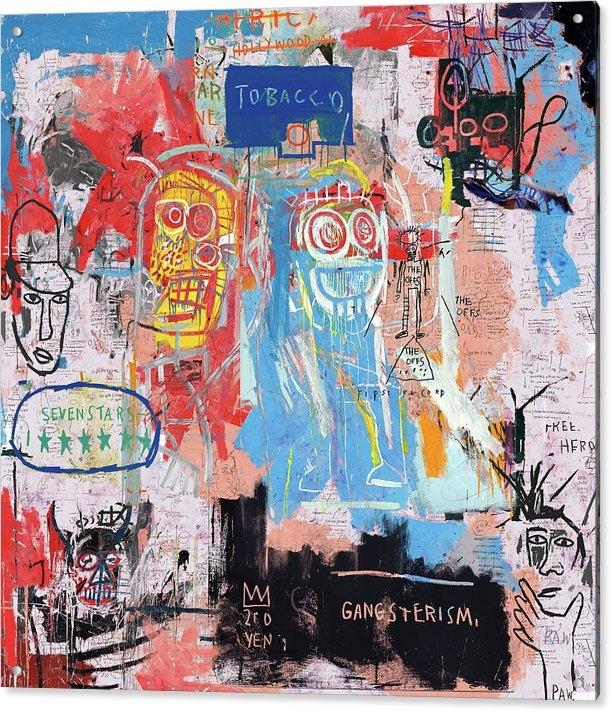 Basquiat Style 2 by Pink Pank Punk Art