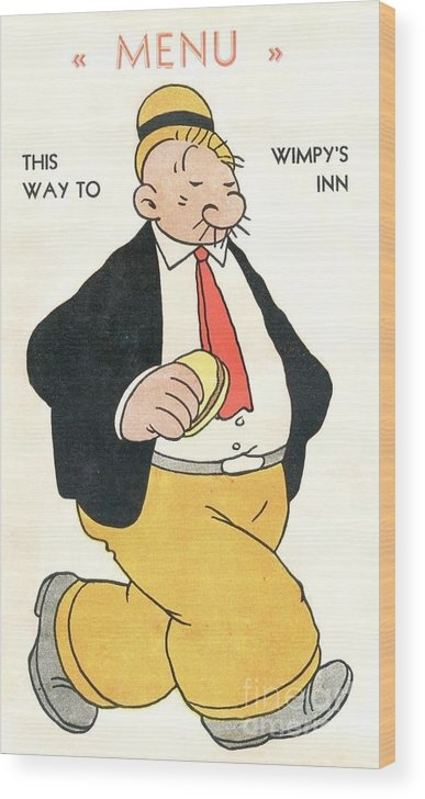 Wimpy's Menu - Poster by PG REPRODUCTIONS