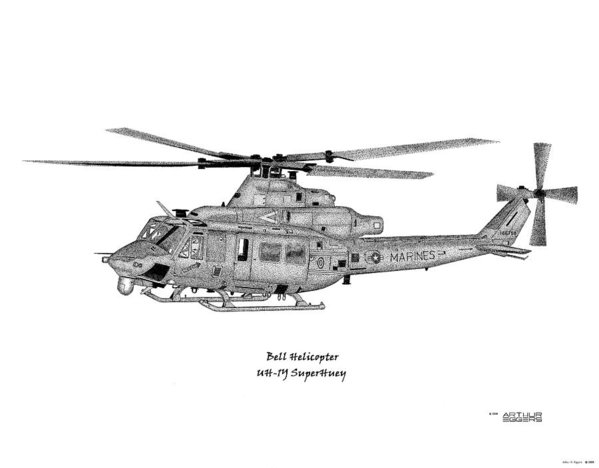 Bell Helicopter UH-1Y Venom by Arthur Eggers
