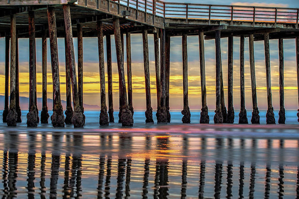 Ocean Pier at Sunset - Nautical Prints by Gregory Ballos