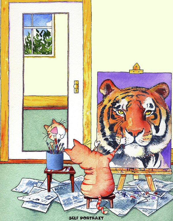 Self Portrait, Tiger by Jim Tweedy