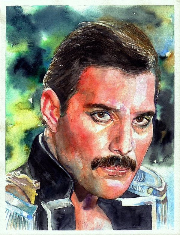 Freddie Mercury portrait by Suzann's Art