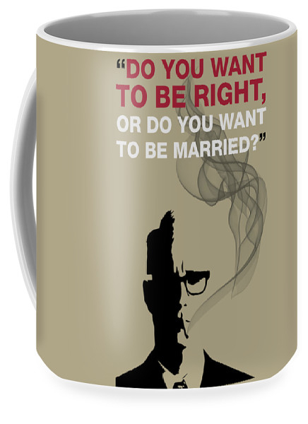 Be Right Or Be Married - Mad Men Poster Roger Sterling Quote by Beautify My Walls