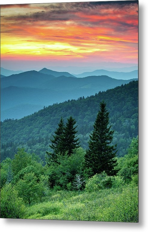 Blue Ridge Parkway NC Landscape - Fire in the Mountains by Dave Allen