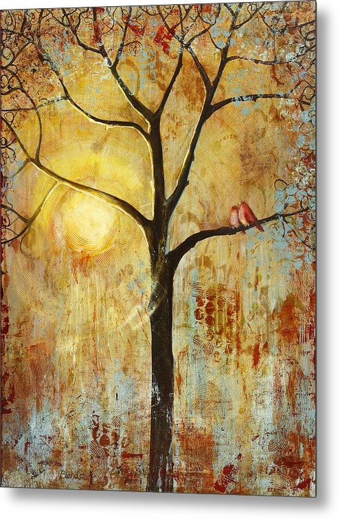 Red Love Birds in a Tree by Blenda Studio