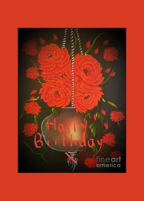 Floral roses with so much passion happy birthday  by Angela Whitehouse