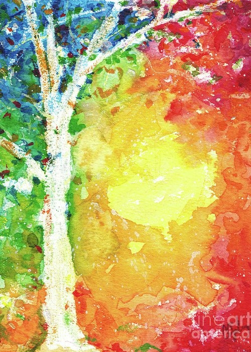 Colorful Abstract Tree by Christine Gilvey