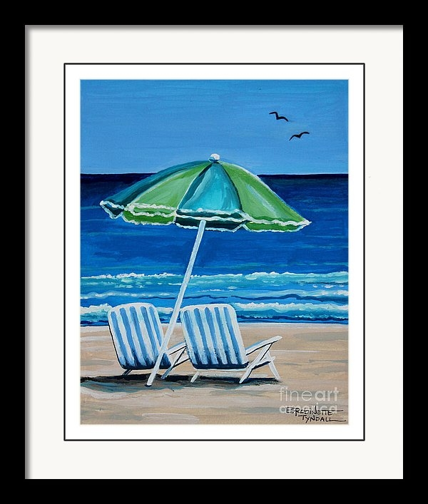 Beach Chair Bliss by Elizabeth Robinette Tyndall