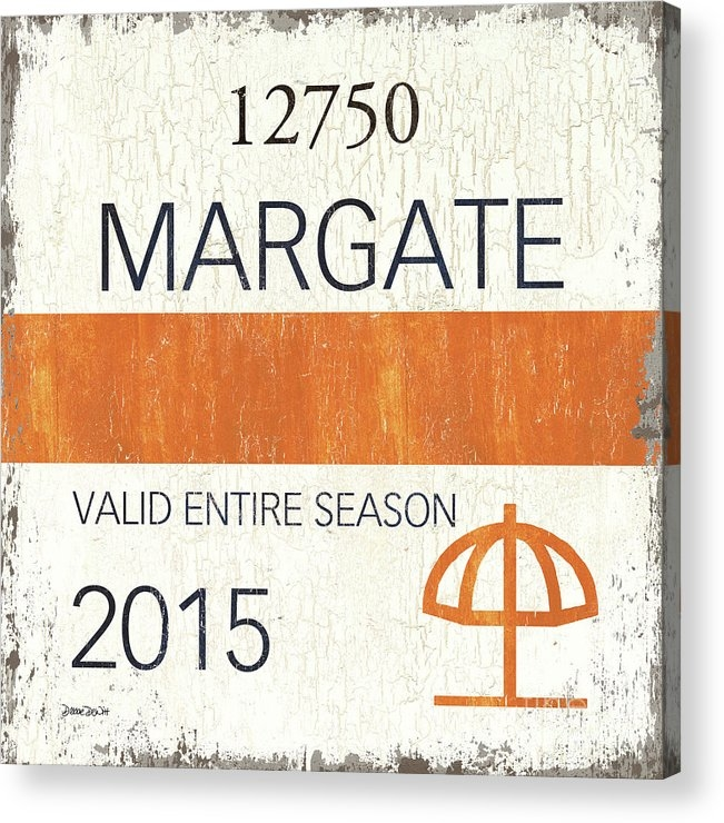 Beach Badge Margate by Debbie DeWitt