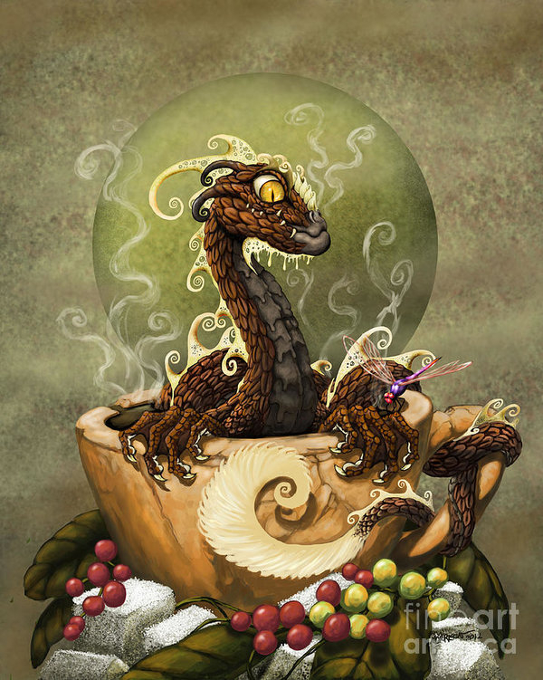 Coffee Dragon by Stanley Morrison