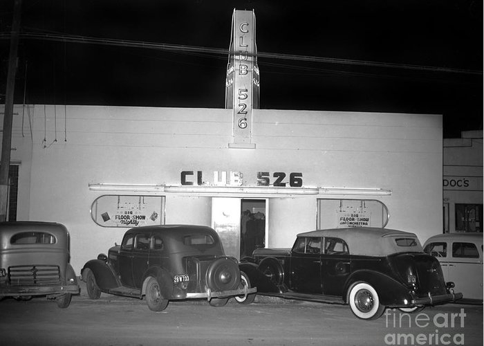 Club 526  Henry Franci, Salinas 1941 by California Views Archives Mr Pat Hathaway Archives