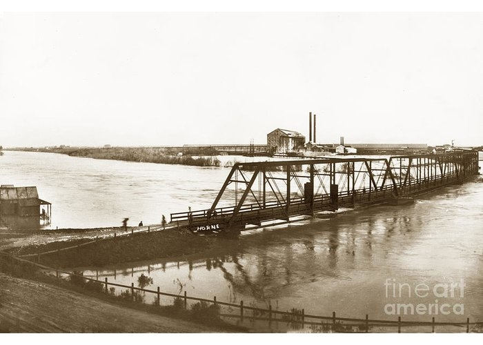 Flooding of Salinas Rive at The Spreckels Sugar Factory at Salinas 1911 by California Views Archives Mr Pat Hathaway Archives