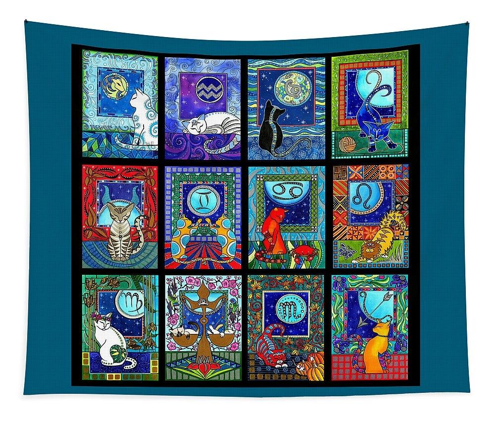 Astrology Cat Zodiacs by Dora Hathazi Mendes