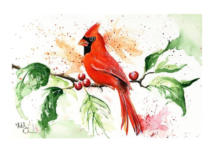 Northern Cardinal by Dora Hathazi Mendes