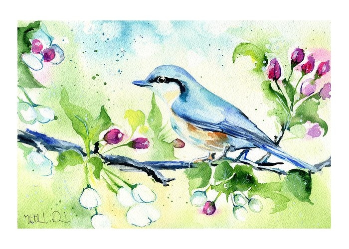 Little Blue Spring Bird by Dora Hathazi Mendes