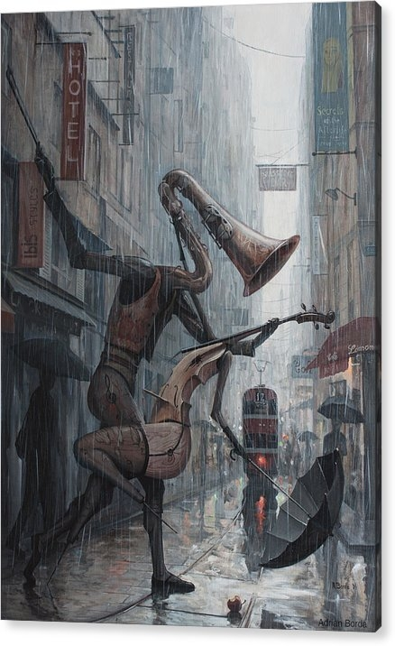 Life is  dance in the rain by Adrian Borda