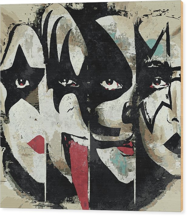 KISS Art Print by Geek N Rock