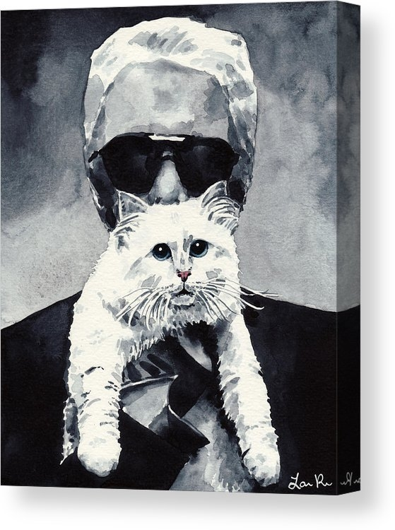 Choupette Cat and Karl Lagerfeld by Laura Row