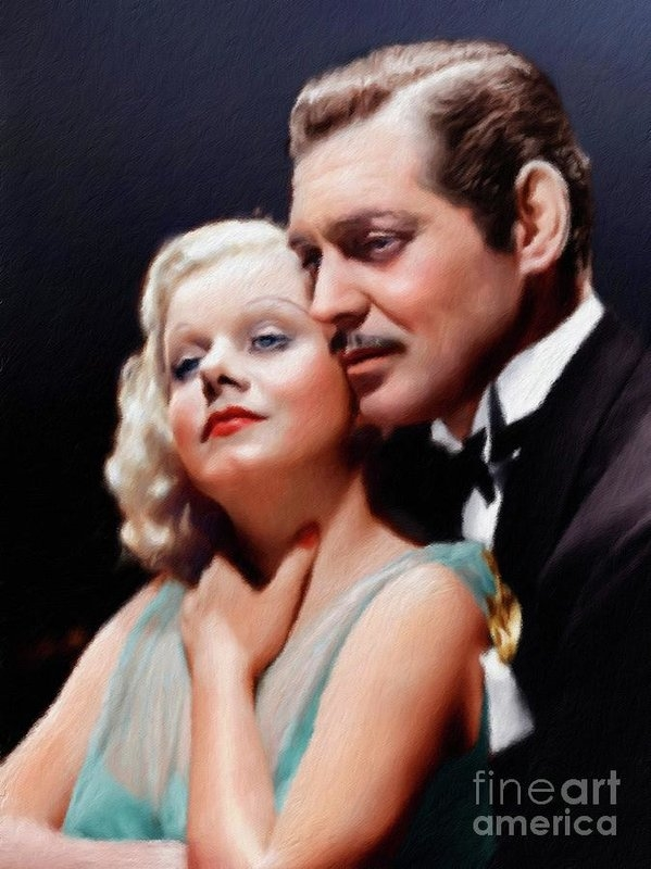 Clark Gable and Jean Harlow, Vintage Stars by Mary Bassett