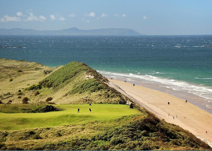 The 5th hole of the Dunluce Links. Royal Portrush Golf Club, Northern Ireland by David Lyons