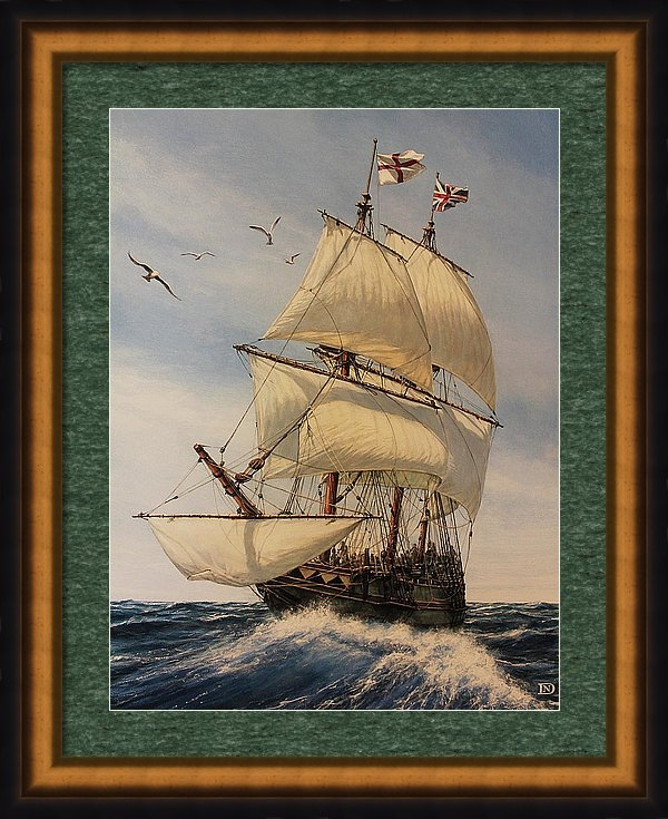The Mayflower Framed Print