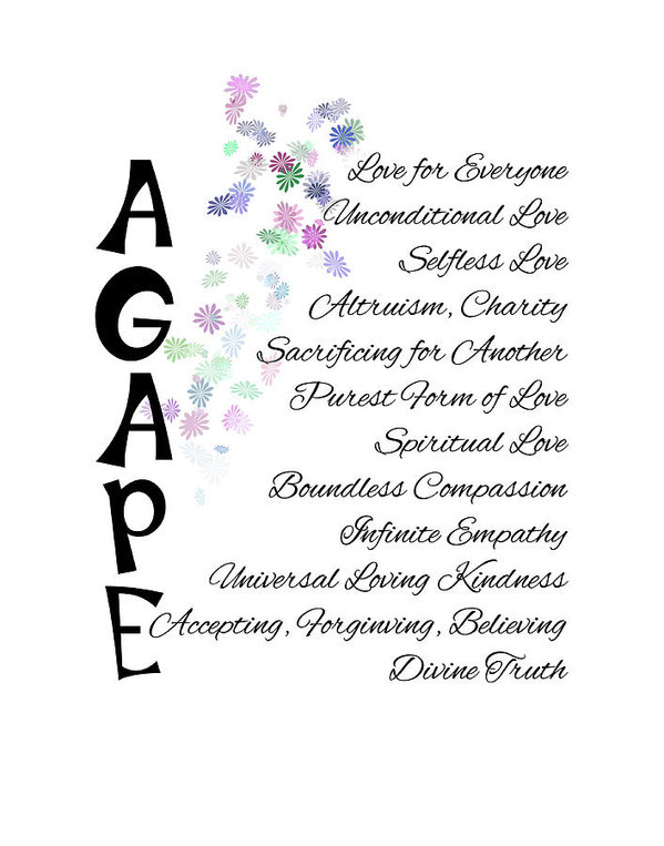 Agape-Words of Love by Judi Saunders