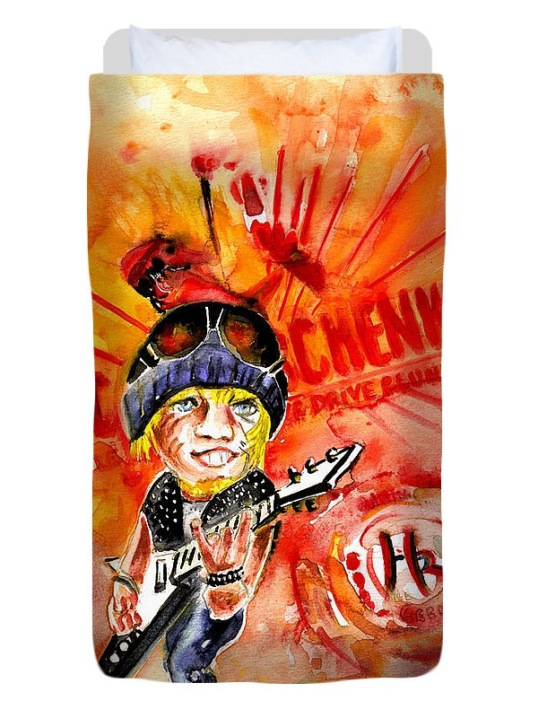 Michael Schenker in Dublin Duvet Cover